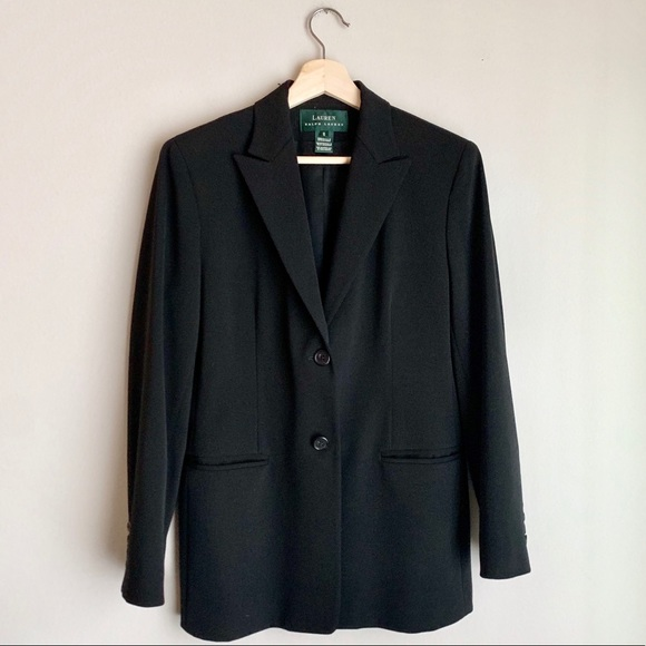 Lauren Ralph Lauren Jackets & Blazers - Lauren Ralph Lauren Black Button Up Blazer Jacket